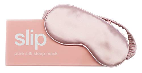 Slip Pure Silk Sleep Mask, Pink - 100% Pure Mulberry Silk 22 Momme Eye Mask with Elastic Band from Slip Pure Silk Pillowcase