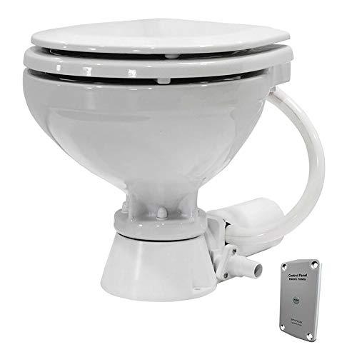 Johnson Pumps 80-47435-01 AquaT Compact Standard Electric Marine Toilet, 12V by Johnson Pumps