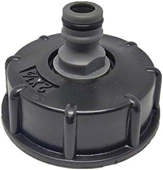 Youool Adaptador de manguera grifo IBC Plástico,conector reductor Instalación del tanque de agua Rosca gruesa estándar de 2 para grifo de manguera de jardín