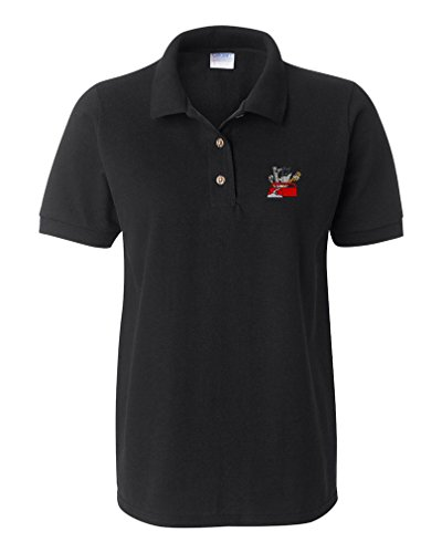 Price comparison product image Tool Box Embroidery Design Adult Cotton Short Sleeve Polo Shirt Black 2X-Large