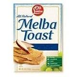 Old London White Grain Melba Toast Cracker, 0.4 Ounce - 2 per pack - 320 per case.