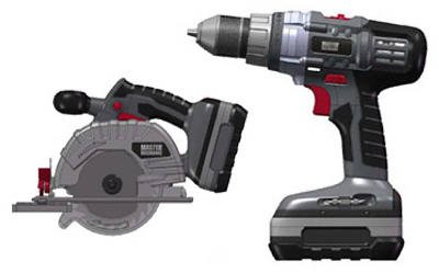 Jinding Group 134474 18-Volt Cordless Drill & Circular Saw Set - Quantity 2 by Jinding Group