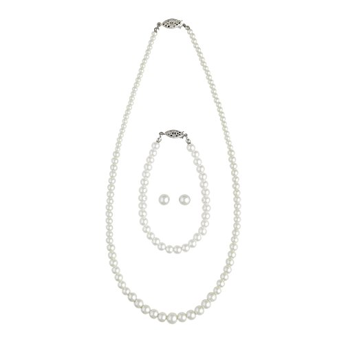 Cathy's Concepts Graduated 3-Piece Pearl Jewelry Collection