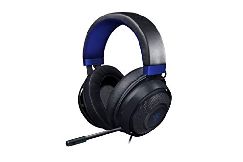 Razer Kraken Gaming Headset 2019: Lightweight Aluminum Frame - Retractable Noise Cancelling Mic - for PC, Xbox, PS4, Nintendo Switch - Blue/Black