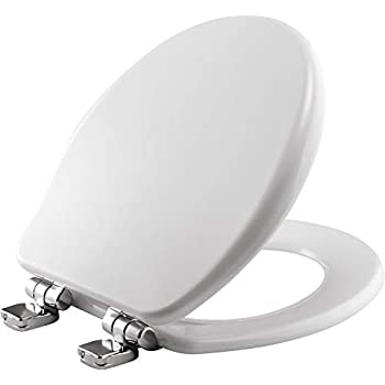 Bemis 9170chsl 000 Toilet Seat With Chrome Hinges Will