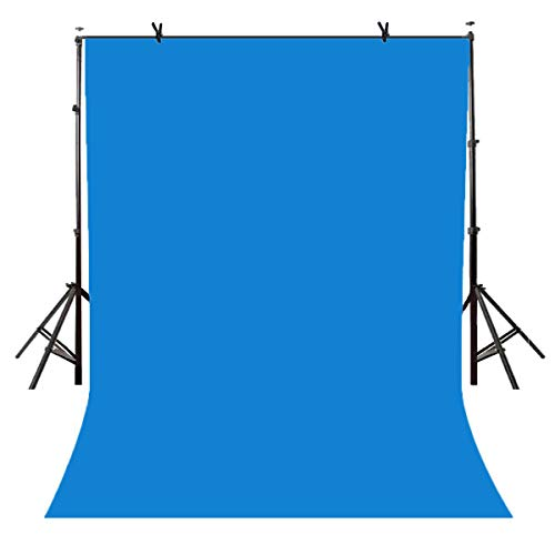 Lyly County 5x7ft Photography Studio Non-Woven Backdrop Blue Backdrop Solid Color Backdrop Navy Blue Simple Background LY077