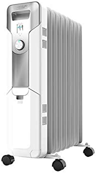 Cecotec Radiador de Aceite Ready Warm 5650 Space. 9 Módulos, Bajo Consumo, Termostato Regulable, 3 Niveles de Potencia, Sistema Antivuelco, Fácil Transporte, 2000 W