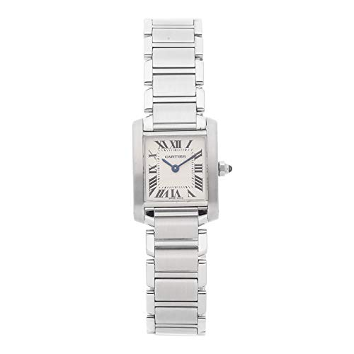 Cartier Tank Quartz (Battery) Silver Dial Womens Watch W51008Q3 (Certified Pre-Owned)