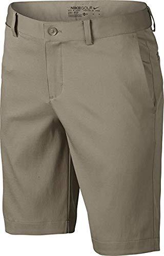 Boys Nike Flat Front Short (LG (14-16 Big Kids), Khaki/Wolf Gray)