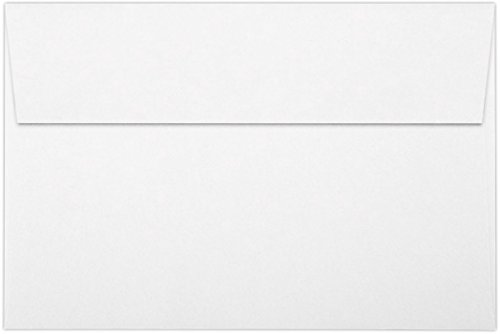 A9 Invitation Envelopes w/Peel & Press (5 3/4 x 8 3/4) - 80lb. White w/Peel & Press (50 Qty) | Perfect for Invitations, Greeting Cards, Thank You Cards, Announcements and so much more! | FE4595-05-50 ()