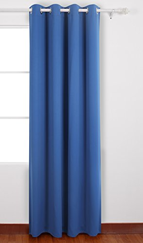 Deconovo High Density Window Blackout Curtains Grommet Top Insulated Thermal Blackout Curtain Room Darkening Curtains for Kitchen 52 x 95 Inch Dark Blue 1 Panel
