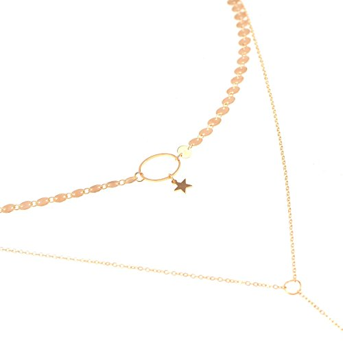 mithril-workshop-fashion-layered-necklace-gold-color-disc-choker-long-chain-pendant-necklace