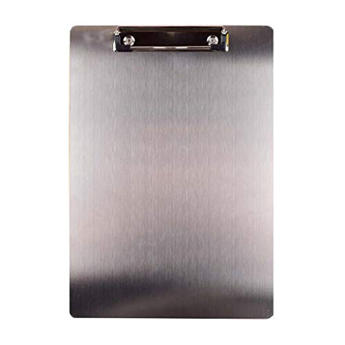 XUANLAN A4 Stainless Steel Folder Clip Clipboard Clip, Hanging Hole Student Office Supplies Multi-Function Clipboard (Color : ()