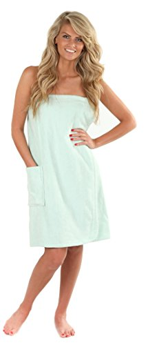 VEAMI Women's Spa Wrap Towel with Snap Closure -Spa (Wrap Robe)