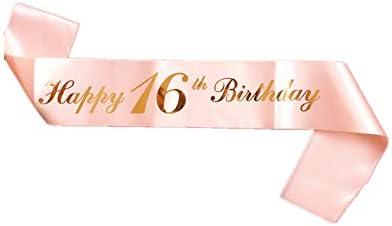 diad/ème Birthday Couronne 16 ans avec paillettes blanches /« Its My 16th Birthday /» pour f/êtes danniversaire ou g/âteaux danniversaire 16 ans d/'anniversaire pour femme