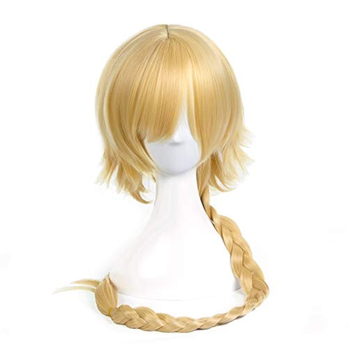 KERVINJESSIE Cosplay Wig Light Golden Twisted Braid For Fate/Apocrypha Jeanne D'arc (Color : Light ()