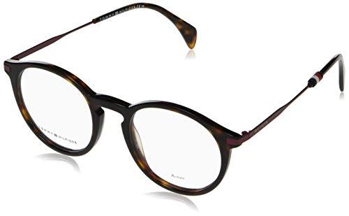Tommy Hilfiger Plastic Rectangular Eyeglasses 50 0086 Dark Havana