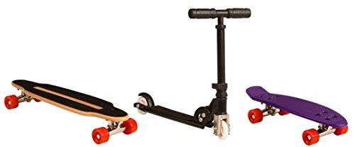 Nijdam Mini Boards Fingerboards Longboard Roller Skateboard (Uni||Natur)