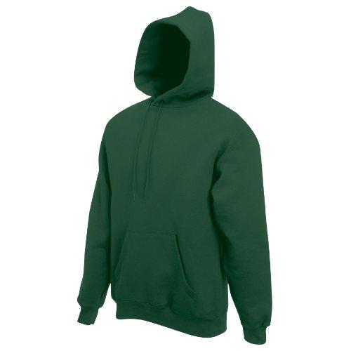 unisex Sweat con Green Frutta manica Bottle cappuccio collo Hooded lunga Di Verde Orto Felpa qqz6X