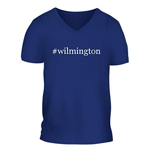 #Wilmington - A Nice Hashtag Men's Short Sleeve V-Neck T-Shirt Shirt, Blue, Large