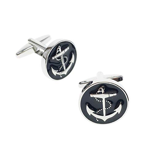 (Cuff-Arts Cufflinks for Men Anchor Cufflinks with a Gift Box C10294)