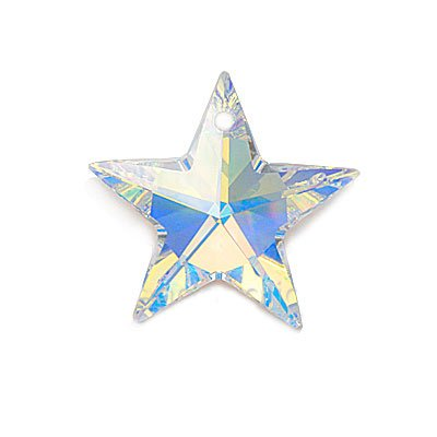 (Swarovski Crystal, 6714 Star Pendant 20mm, 1 Piece, Crystal AB)