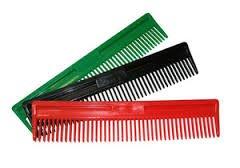 plastic mane comb - large - burgundy