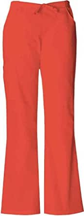 Dickies Medical Scrubs 854206 Women's Missy Fit Every Day Scrubs Back Elastic Flare Leg Pant Orange Sunset X-Large Petite