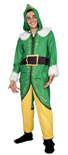 Elf Buddy Costume Pajama Union Suit (Adult XX-Large)]()