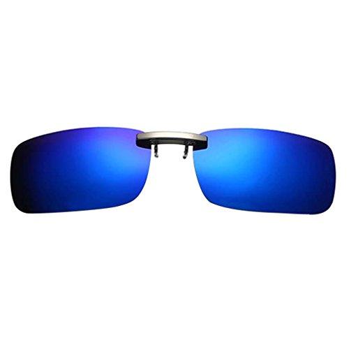Hombre Clip Polarizada 400 con para Solar UV Protección azul Anteojos Eyewear Antideslumbrantes IPOTCH Sol de Mujer profundo Gafa xzZCXZ