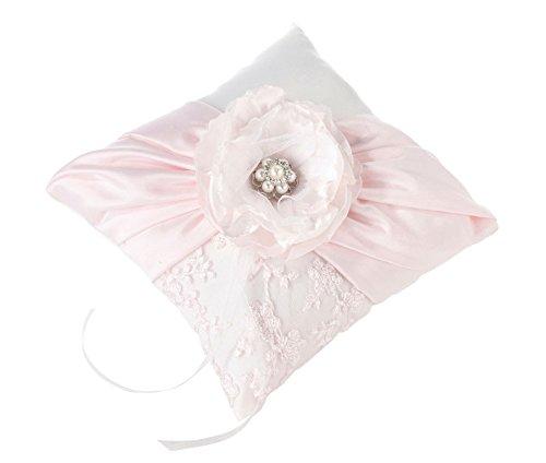 Lillian Rose Vintage Chic Blush Pink Wedding Ring Pillow