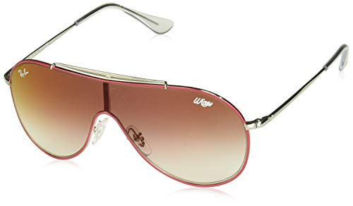 Ray-Ban Junior RJ9546S Wings Kids Sunglasses, Red on Silver/Red Gradient Mirror, 20 - Junior Wings