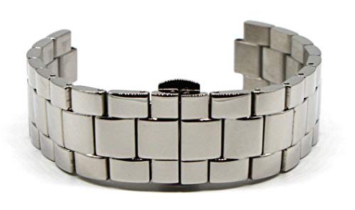 Lucien Piccard 20MM Stainless Steel Band Strap Bracelet 7