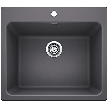 Great Blanco 401923 Liven Laundry Sink Cinder