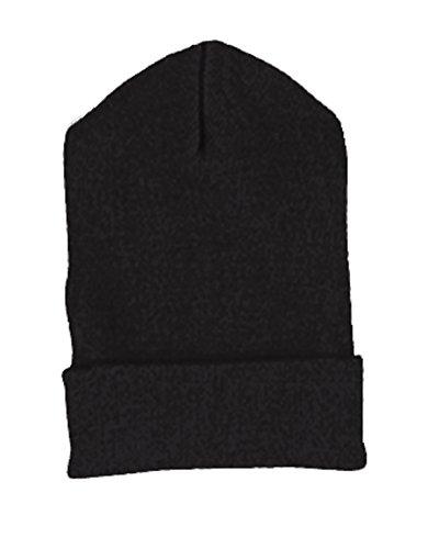 Yupoong Cuffed Knit Cap (1501)- BLACK, - Cuffed 1501 Cap Yupoong Knit