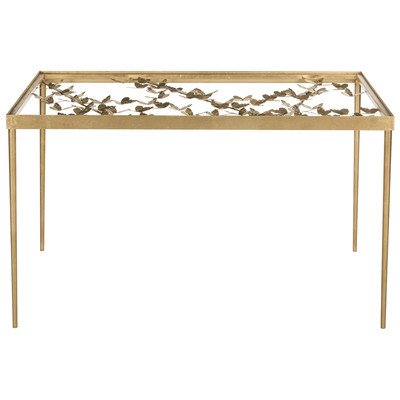 Safavieh FOX2588A Home Collection Rosalia Butterfly Desk, Antique Gold