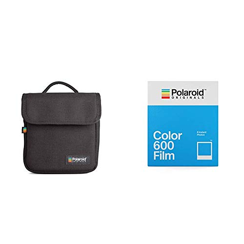Polaroid Originals Box Camera Bag, Black (4756) &  Originals Color Film for 600 (4670) (600 Film Pack)