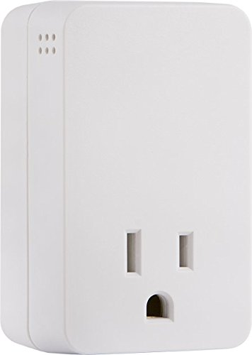 GE UltraPro Surge Protector with Audible Alarm, Fits Behind Hard-To-Reach Areas, End of Service Alarm, 1 Outlet, 1080 Joules Protection Rating, 38124