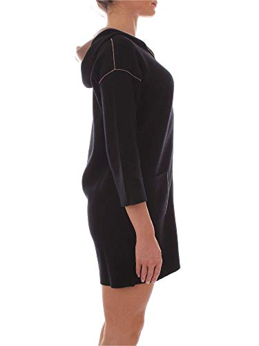 Mujer Negro Abrigo Poliamida 65251742black Kangra vxg74Ag