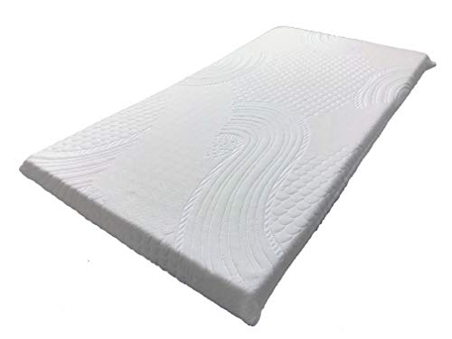 """OrganicTextiles Natural Latex Crib and Toddler Mattress Topper Pad 2"""" Inch (Standard Crib Size) with Organic Co Cover Protector, Hypoallergenic Soft Baby Bedding, Non-Toxic for a Healthy Sleep"""