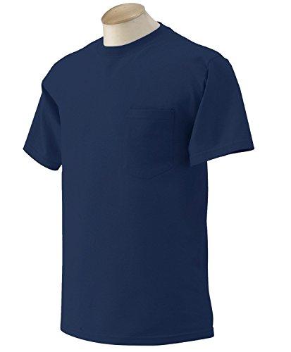 6.1 Ounce Pocket T-shirt -  Gildan G230 6.1 oz. Ultra Cotton Pocket T-Shirt 4XL Navy