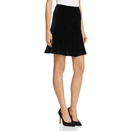 Theory Womens Abrilin Velvet Mini A-Line Skirt Black 0