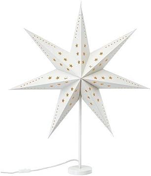 IKEA strala lampe de table en forme de poinsettia blanc