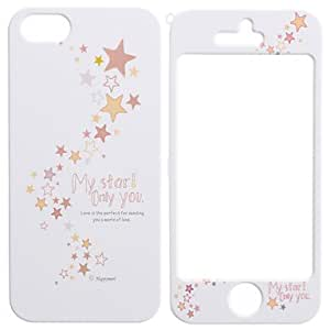 LZX Colorful Stars Pattern Detachable Full Body Hard Case for iPhone 5/5S
