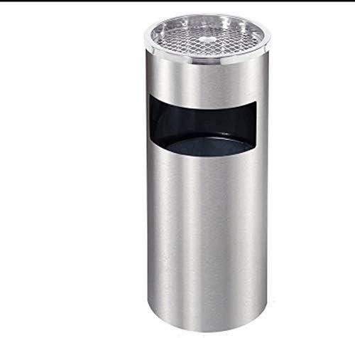 立って自由に立ってステンレス鋼屋外ダストゴミ箱タバコスタンド立ってビン、2で1金属ゴミ箱屋外
