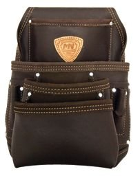 McGuire-Nicholas 870-CC 10 Pocket Nail and Tool Pouch Oil Tanned Leather, Tan Brown