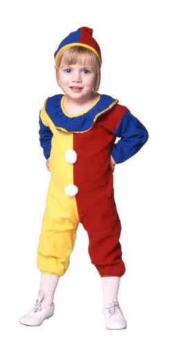 Clown Pajama Infant Costume (Infant 1-2, Red/Yellow/Blue)]()