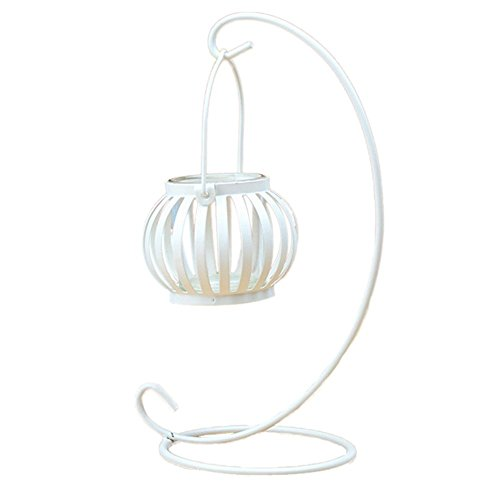 Hosaire Metal Tealight Candle Holder Hollow Pumpkin Hanging Lanterns