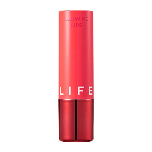 Glow Me Lips Love Me 02 Coral 0.12 oz - Lovely Coral Color Glossy Tinted Lip Stain Gives You Natural Makeup Look and Moisturizing and Plump Lip ()