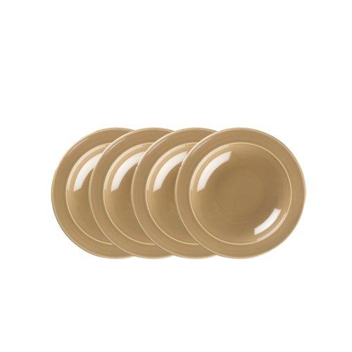 Emile Henry 9-inch Soup/Pasta Bowls, Set of 4, Sand